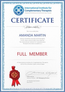 IICT membership certificate